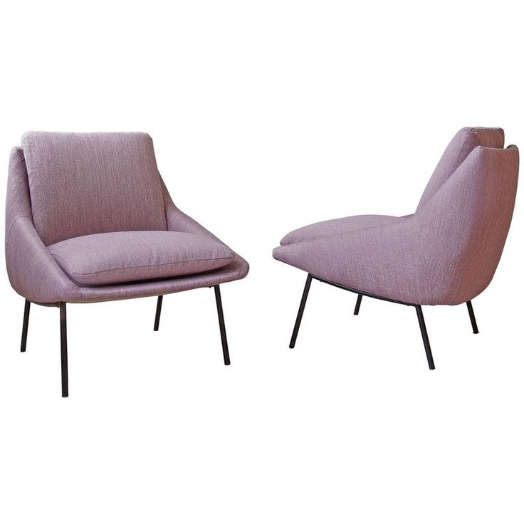 Joseph-André Motte for Steiner Model 800 Lounge Chairs ca.1950's