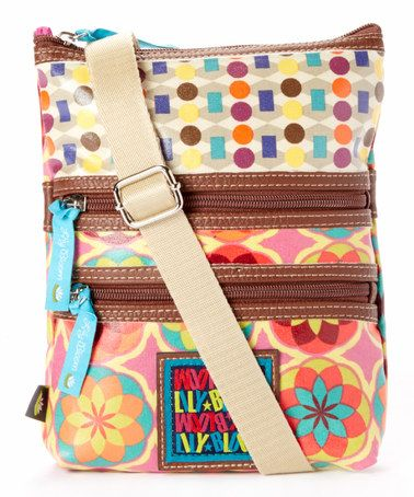 Look at this #zulilyfind! Pink Botanical Blossom Bits & Pieces Crossbody Bag by Lily Bloom #zulilyfinds...love this