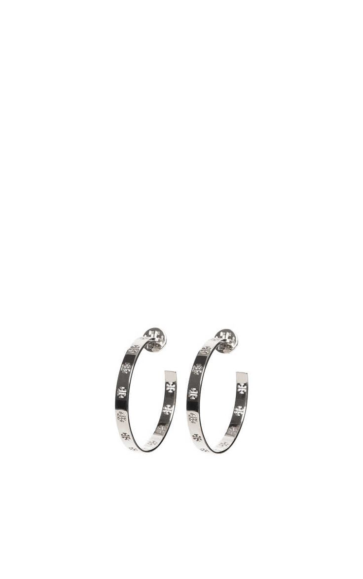 rh nge pierced hoop earring silver tory burch designers raglady tory burch pinterest. Black Bedroom Furniture Sets. Home Design Ideas