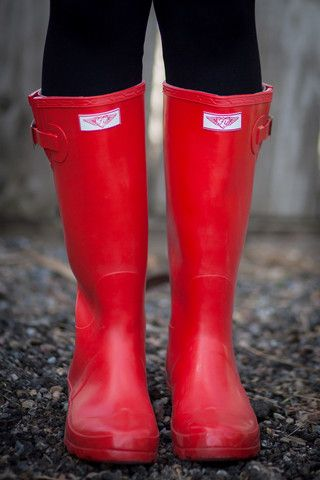 Red Wellies.  Welly Boots.  Red Welly Boots.  Red Rain Boots.  Red Snow Boots.  Rubber Boots.