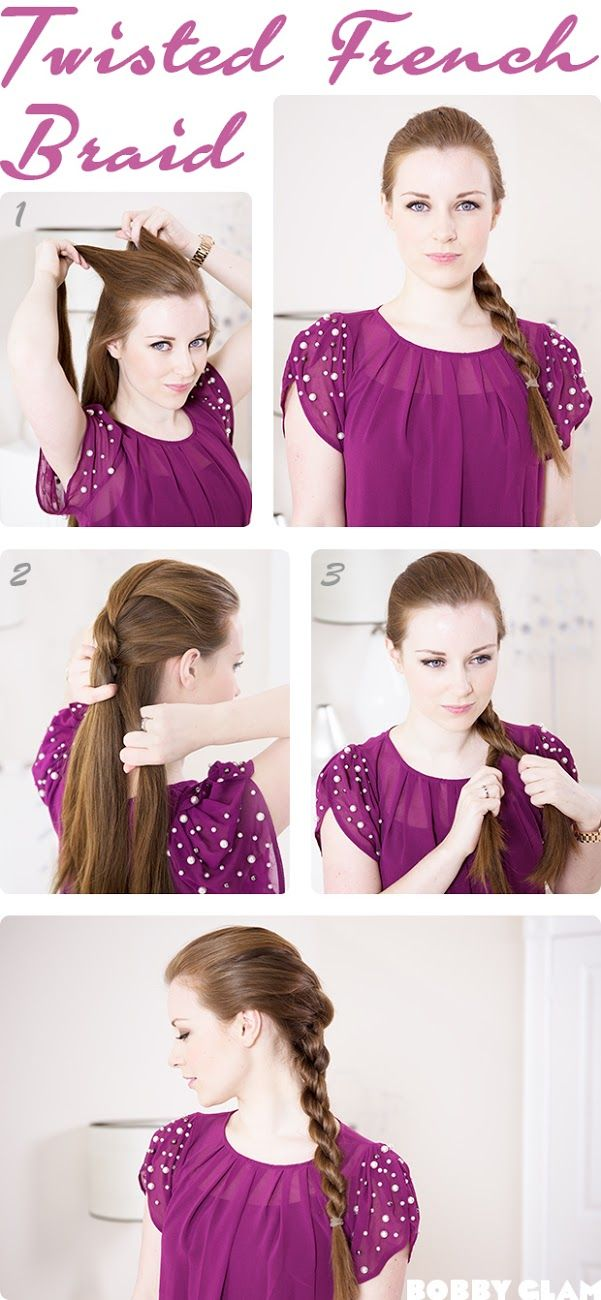 Twisted French Braid Hair Tutorial | She's Beautiful