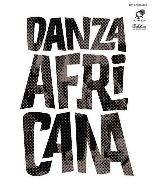 I Love Ligatures / Danza Africana / Lettering for a solidarity poster by Jordi Sempere
