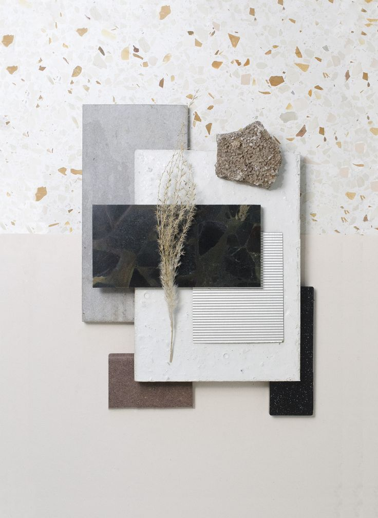 Mood board interior with texture