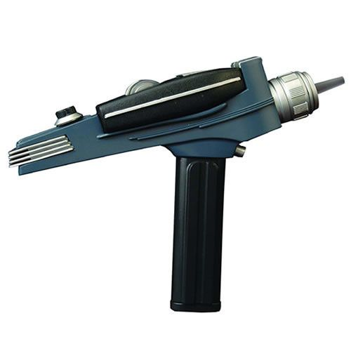 """It's The Star Trek Original Series Black Handle Phaser. Painstakingly accurate to the originals seen on the classic Star Trek series! Features a black handle, """"Try Me"""" window box, sounds taken directl"""