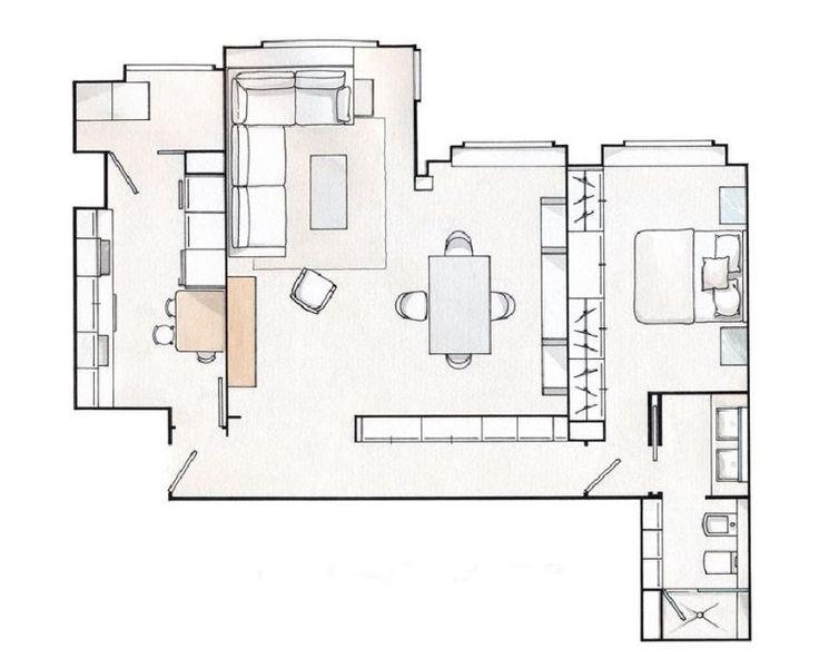 adelaparvu.com despre apartament de doua camere elegant amenajat, Foto ElMueble (8)