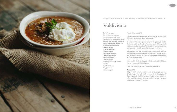 Así se ven las recetas en el libro, ¿Qué te parece este Valdiviano?Del Blog A La Mesa