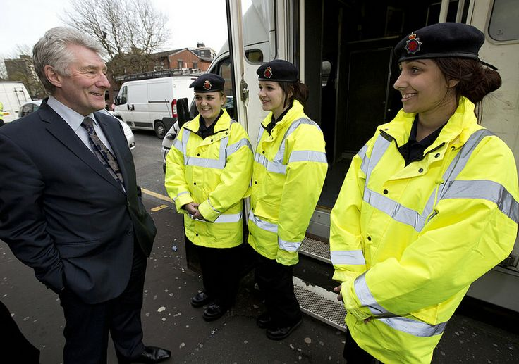 Police and Crime Commissioner Tony Lloyd meet some of Rochdale's volunteer police cadets. The Rochdale Safer Communities Partnership clamped down on crime and met with residents at the Abbeydale Flats in Lower Falinge on Friday 11 and Saturday 12 April. Residents were offered support through the presence of teams from the council, police, housing associations and community volunteer group.
