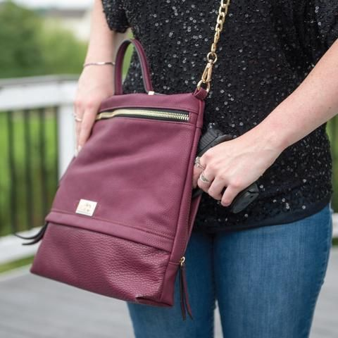 Usually ships in 1-3 business days. Cameleon Concealed Carry Handbags...... because self-defense should never go out of style! There are over 20 million women in the United States that own their own f