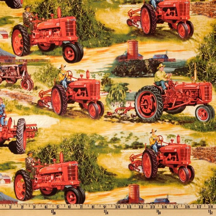 15 best tractor quilts images on pinterest tractor quilt - Farmall tractor wallpaper border ...