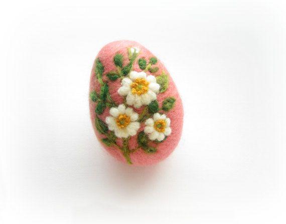 Uovo di Pasqua ago infeltrito uovo ornamento primavera