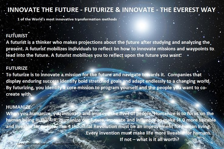 FUTURIZE TO INNOVATE A LIVE-ABLE FUTURE