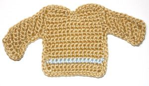 free crochet pattern: mini sweater