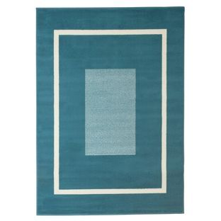 Buy HOME Maestro Square Border Rug - 160x120cm - Teal at Argos.co.uk - Your Online Shop for Rugs and mats. 22.99