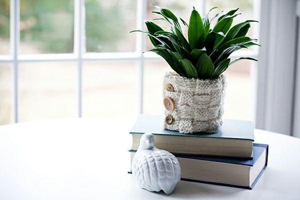 Blumentopf selber machen Sommer Deko Wohnzimmer