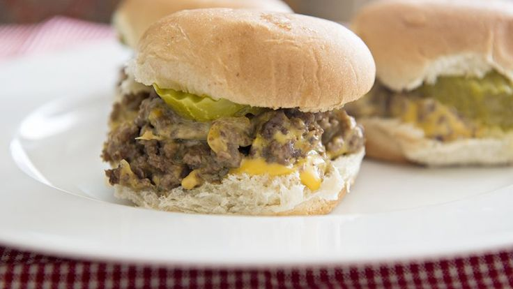 A slightly mock rendition of White Castles sliders, but we think only better. Great kid sized burgers or even better for adult sized snacks! NOTE: since posting this recipe I have found out that Pepperidge Farm no longer makes the small rolls in the pans so therefore use your own disgression on which rolls are available to you but I do suggest that you use a small size like a dinner roll in order to get the full White Castle affect!