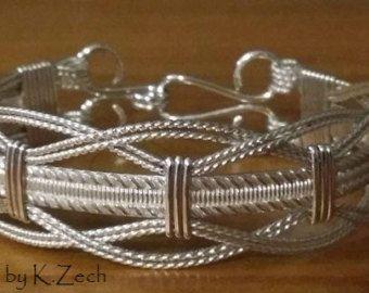 Plata alambre envuelto joyería de alambre