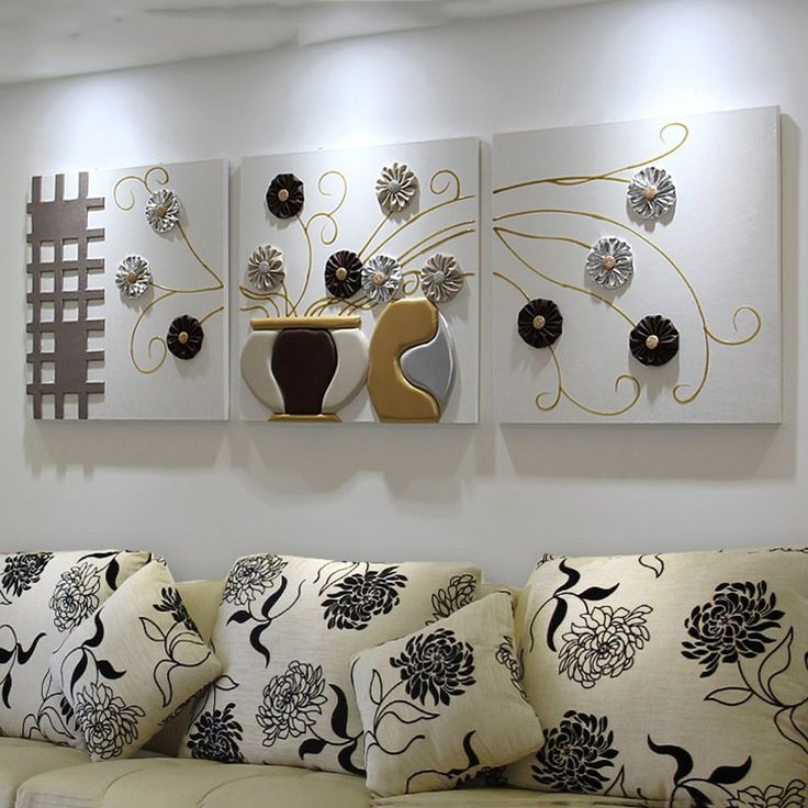 Living Room Sofa Design, Living Room Designs, Living Room Decor, Clay Wall Art, Wood Wall Art, Light Blue Throw Pillows, Red Wall Decor, Tableau Design, Flower Canvas