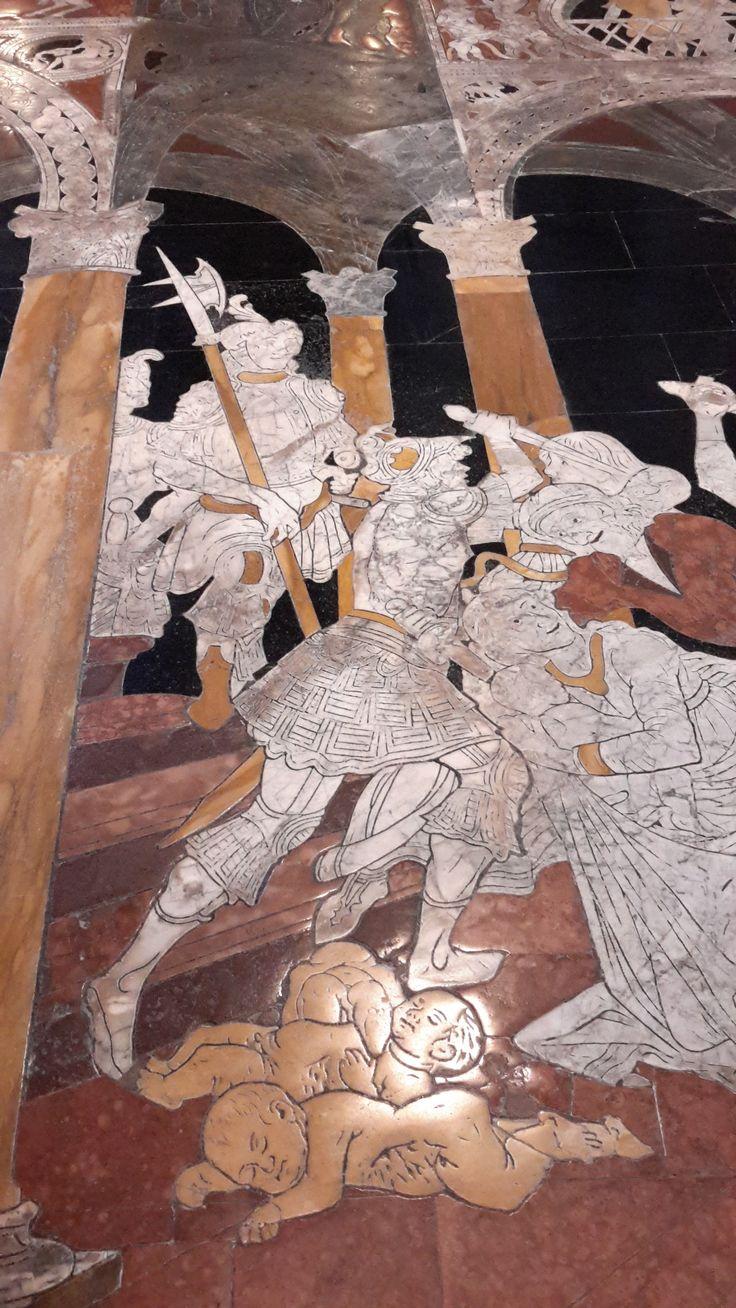 Pavimento del Duomo di Siena - Strage degli innocenti - Matteo di Giovanni (disegno) Francesco di Niccolaio e Nanni di Piero di Nanni (realizzazione) - 1482
