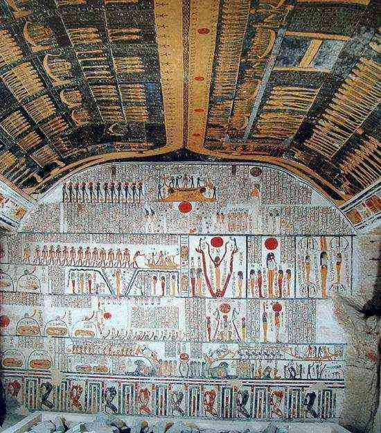 burial chamber Ramesses (scenes from the Book of the Earth; astronomical ceiling with Nut and scenes from the Books of the Heavens)