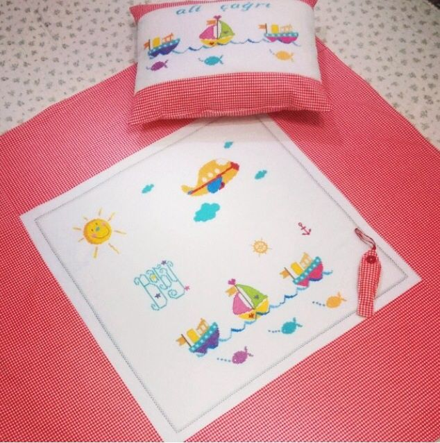 Deniz temalı yastık & pike takımı ⚓️⛵️