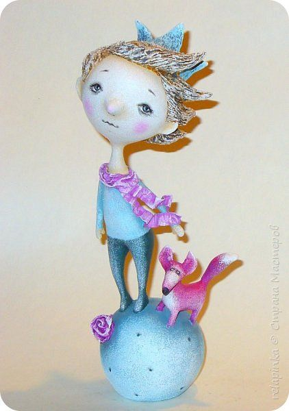 Куклы День рождения Папье-маше Маленький Принц повтор Бумага фото 1