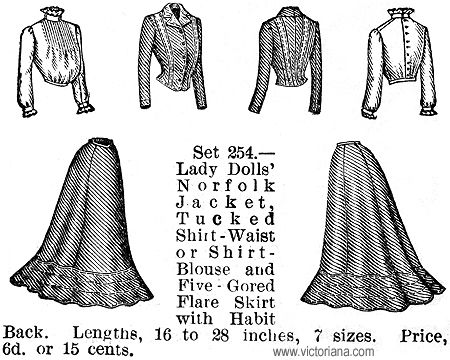 DOLL CLOTHES PATTERNS In 1873, Ebenezer Butterick launched