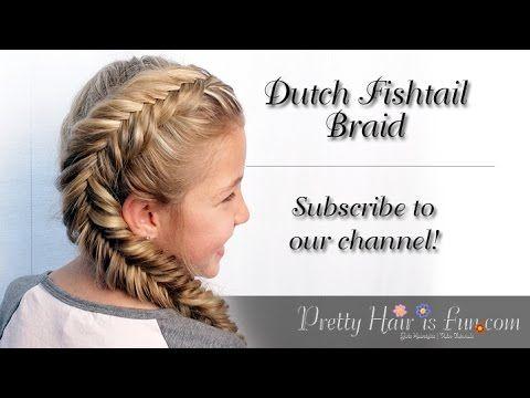 How To: Side Dutch Fishtail Braid | Pretty Hair is Fun - YouTubeBraid Hairstyles, Braids, braids tutorial, braids for short hair, braids for short hair tutorial, braids for long hair, braids for long hair tutorials...