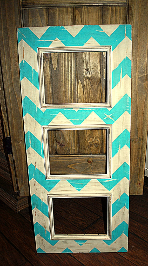 Multiple Picture Frame in Distressed by hayleykellyframes on Etsy, $175.00