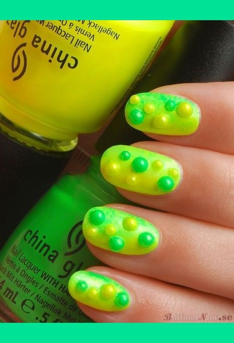 Neon Yellow & green bubbles