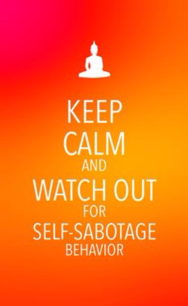 how to stop self sabotaging thoughts