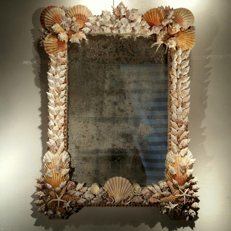 17 best images about seashell nautical furniture on for Miroir long mural
