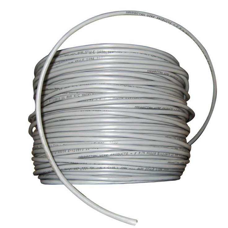Cobra Wire 22/4 Shielded Comm Cable - NMEA 0183 - 500' - Grey - https://www.boatpartsforless.com/shop/cobra-wire-224-shielded-comm-cable-nmea-0183-500-grey/