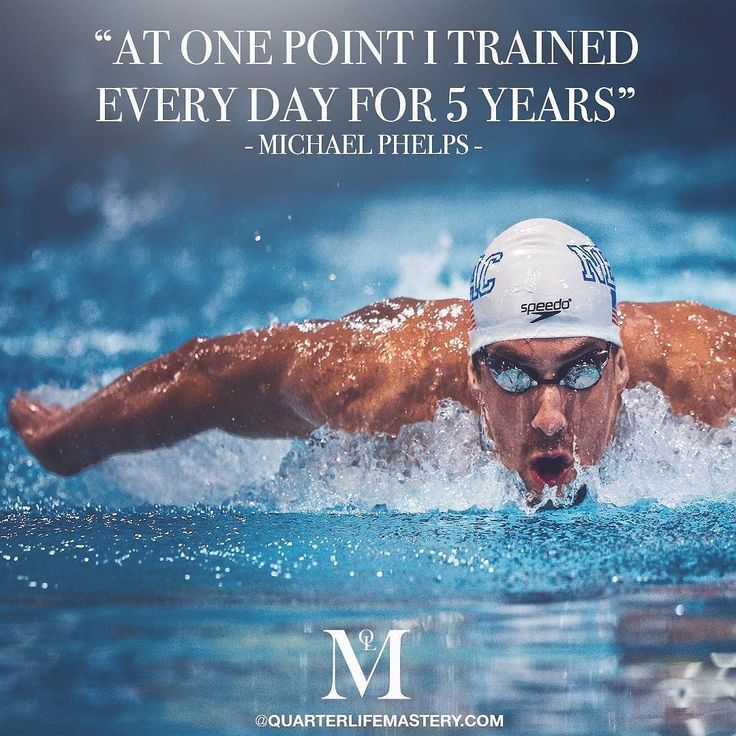 During the peak of his career Michael Phelps trained every day not even taking Christmas Day off. Real work