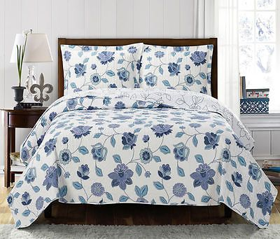 Miranda California-King Size Over-Sized Coverlet 3 Pieces set Luxury Microfiber in Home & Garden, Bedding, Quilts, Bedspreads & Coverlets | eBay