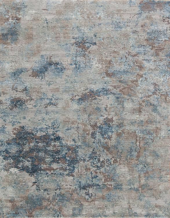 Drift Blue Silk #1 {rugs, carpets, modern, home collection, decor, residential, commercial, hospitality, warp & weft}