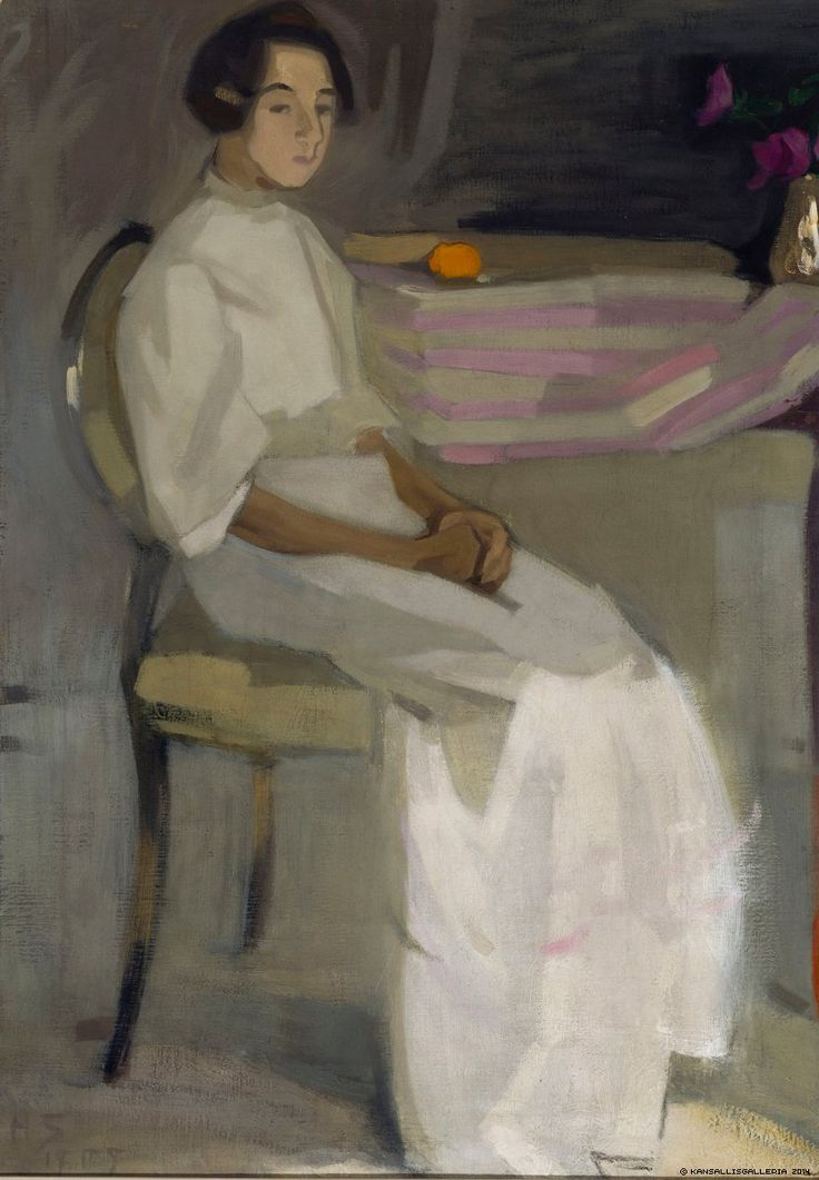 Helene Schjerfbeck, Costume Picture II, 1909, Oil on canvas, 89,5 x 63 cm, Finnish National Gallery, Helsinki
