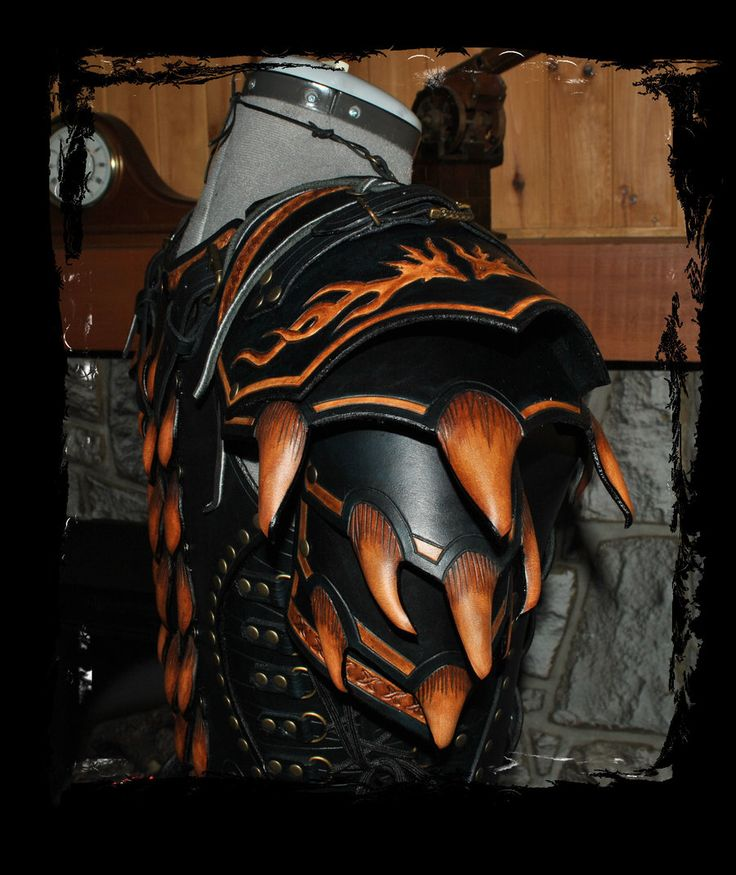 dragon female leather armor by ~Lagueuse on deviantART