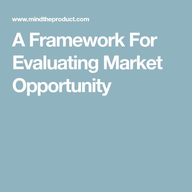 A Framework For Evaluating Market Opportunity