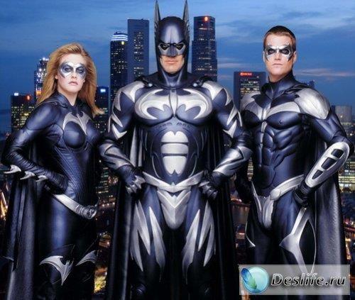 Шаблоны костюмов для фотошоп batman