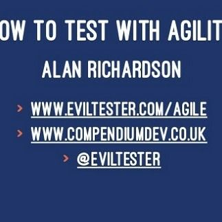 """Now Available: the slides for my Rabobank """"How to Test With Agility"""" keynote http://ift.tt/2sJQ71g #SoftwareTesting #Agile #TestAutomation"""