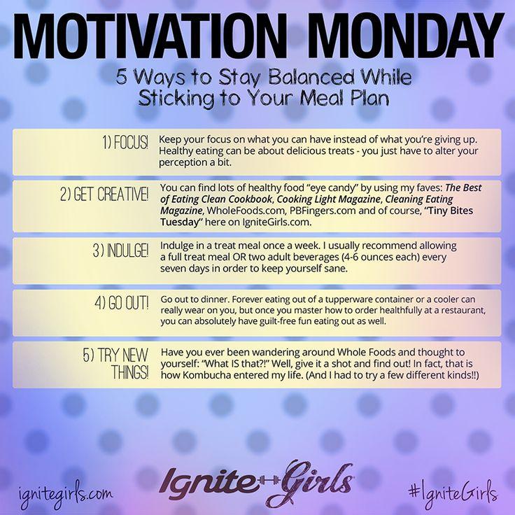 #MondayMotivation #healthy #diet #eatright #ignitegirls
