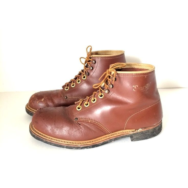 Vintage 1960's Chukka Army Combat Security Steel-Toe Safety Work Boots  Sze 11.5 #Combat #WorkSafety