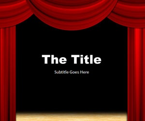 Theater PowerPoint Presentation template for shows andTheater presentations #MicrosoftPowerPoint