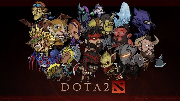 Dota 2 Heroes Cartoon - DotaCaps - Funny Dota Images