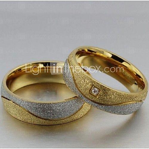 Anéis,Anéis de Casal / Anéis Statement,Jóias Casamento / Pesta / Diário / Casual / Esportes / N/D Aço Titânio 2pçs,5 / 6 / 7 / 8 / 9 / 10 - USD $10.99