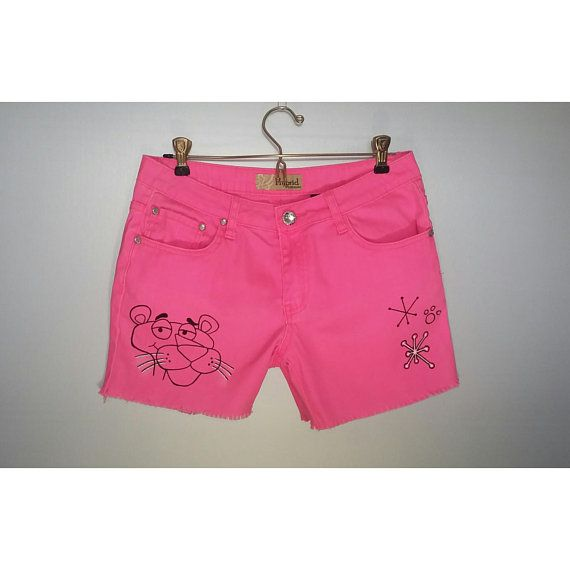 The Pink Panther Denim Jean Shorts Hot Pink Boho Size 11 Waist 31 Womens Girls Cut Offs Etsy shop https://www.etsy.com/ca/listing/605603237/the-pink-panther-denim-jean-shorts-hot