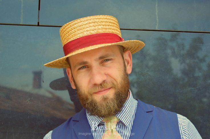 stil masculin 13 #portrait #hat #style #smile