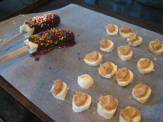 Chocolate PB Banana Bites and Chocolate Covered Bananas