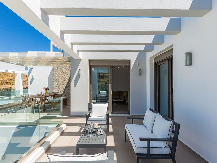 Rethymno villa rental - Bedrooms provide access to the large veranda and pool terrace!