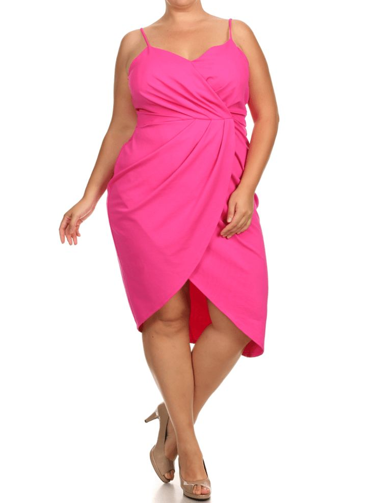 Plus Size Mesmerize In Pleats Pink Dress Plus Size Clothing Club Wear Dresses Tops Sexy